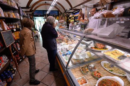 Un negozio di generi alimentari a Pisa, 29 aprile 2014. ANSA/ FRANCO SILVI